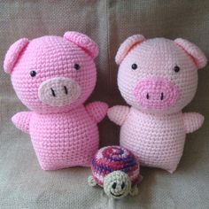 Chanchitos Crochet Pig, Pugs, Hello Kitty, Dinosaur Stuffed Animal, Piglets, Animals, Models, Amigurumi, Chrochet