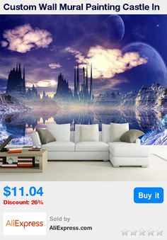 Custom Wall Mural Painting Castle In The Sky Photo Background Wallpaper For Living Room 3D Wall Murals Wallpaper Home Decor * Pub Date: 17:33 Jul 6 2017