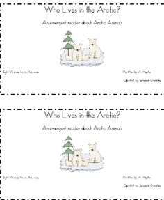 arctic animals emergent reader