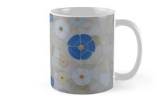 """""""Summer"""" Stained Glass Mosaic Design Mug $15.Stained Glass Mosaic Side Table With The Same Design For Sale for € 250 at: https://www.etsy.com/ie/listing/170738930/stained-glass-mosaic-tables-for-sale?ref=shop_home_active_9"""