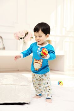 2015 New Cute Fashion Blue Spring Fall Autumn Baby Clothing Sets Unisex Factory Direct Clothing Cheap Character Newborn Clothing Suits Cotton For 0-24M Baby Boy Baby Girl Clothes Set  Brand Infant Garment Fashion Striped Orange Roupas Bebes Clothes Set Suits China Brand