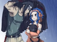 Fairy Tail Gajevy (Gajeel and Levy) Fairy Tail Levy, Fairy Tail Ships, Fairy Tail Amour, Fairy Tail Anime, Nalu, Gajeel Und Levy, Anime Couples, Cute Couples, Couples Fairy Tail