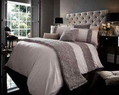 Signature Fabian Duvet Quilt Cover Bedding Set | Silver — Linens Range