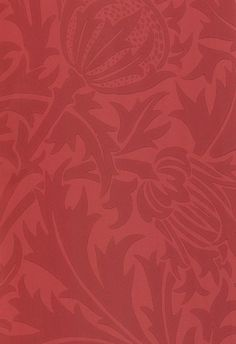 Thistledown Wallpaper A toning red floral wallpaper depicting thistle flowers