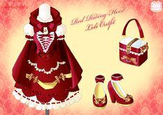 Red Riding Hood Loli Outfit by Neko-Vi.deviantart.com on @deviantART