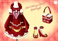 Red Riding Hood Loli Outfit by Neko-Vi.deviantart.com on @deviantART