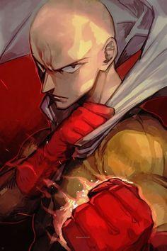 Manga Anime, Anime One, Anime Guys, One Punch Man Funny, One Punch Man Manga, Genos Wallpaper, One Punch Man Wallpapers, Saitama Sensei, Saitama One Punch Man