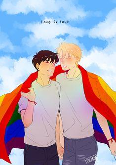 Just for now, Eiji. Manhwa, Fisher, Lgbt Anime, Fish Icon, Banana Art, Fish Wallpaper, Japon Illustration, Cute Gay Couples, Fanarts Anime