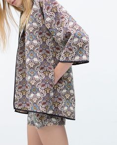Image 5 of JACQUARD KIMONO TOP from Zara