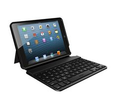 ZAGGkeys MINI 7  Still like the feel of real keys for longer typing tasks? This case gives the mini a compact Bluetooth keyboard.    Designed specifically for iPad mini  Only 13% smaller than a traditional Apple keyboard  Special function keys (copy, paste, etc)  Island-style keys in a sleek, unique layout
