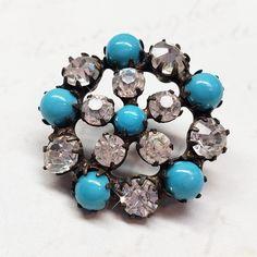 15mm fancy glass crystal blue ab gem dress coat button sew on jewel rhinestone