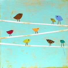 Shop Talk Artwork   cutest variation of birds on a wire that I've seen