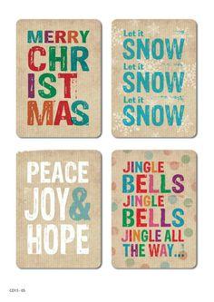 Vintage Screen Print Christmas Posters