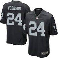 Oakland Raiders #24 Charles Woodson Elite Black Jersey