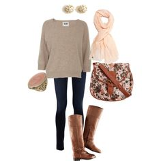 so cute for fall! love the printed bag and statement ring.