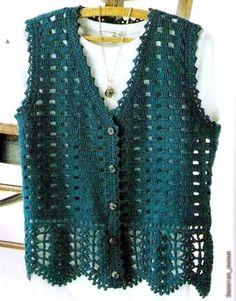 Crochet Vest - Free Crochet Diagram - (crochet103.blogspot)
