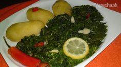 Pikantný dusený mangold (fotorecept) - recept   Varecha.sk Seaweed Salad, Palak Paneer, Veggies, Ethnic Recipes, Food, Vegetable Recipes, Vegetables, Essen, Meals