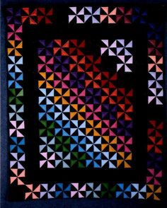 Seriously awesome - Amish Pin Wheel Quilt~I LOVE this!~connect the blocks