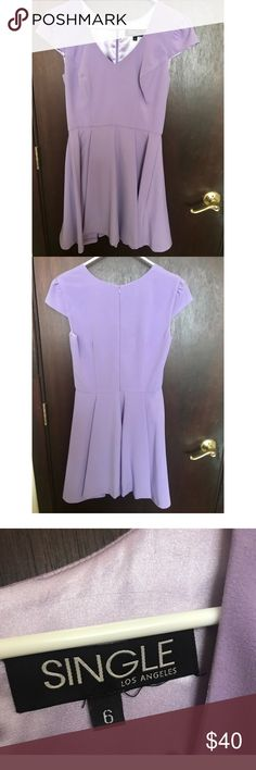 SINGLE Lavender Skater Dress Single Los Angeles skater dress, only worn once, and in perfect condition! Great quality material and lining. Pretty lavender color. Very flattering! Dresses