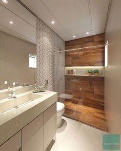 madeira no banheiro; como usar madeira no banheiro; madeira no banheiro dentro Bad Inspiration, Bathroom Inspiration, Bathroom Ideas, Bathroom Layout, Bathroom Design Small, Modern Bathroom, Bathroom Pink, Bathroom Interior, Interior Design Living Room