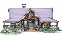 Tellico Cuatro Front Elevation -- Natural Element Homes