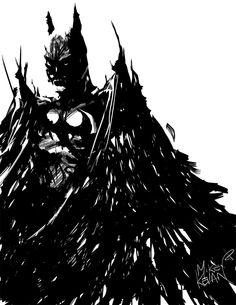 Batman sketch by Mike Kevan