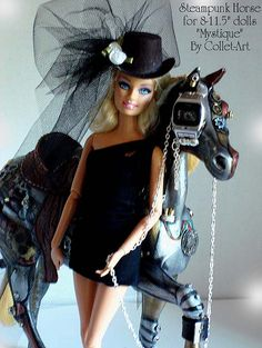"""2011 STEAMPUNK HORSE """"MYSTIQUE"""" FOR 8""""-11.5"""" DOLLS LIKE BARBIE, PULLIP, FASHION ROYALTY, TINY KITTY, ETC. by collet-art, via Flickr"""