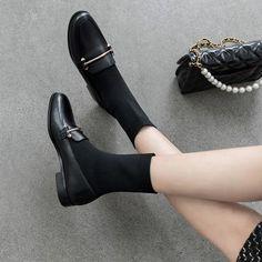 Chiko Destanee Square Toe Block Heels Boots Block Heel Loafers, Block Heel Boots, Heeled Loafers, Loafer Shoes, Block Heels, Heeled Boots, Shoes Heels, Pumps, Shoes Boots Combat