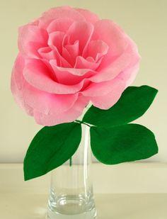fleur-en-papier-crepon-jolie-rose