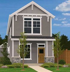 Zero Lot Line House Plan, 034H-0160 | Munising house ideas ... Zero Lot Home Exterior Designs Html on