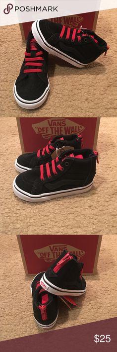 Vans SK8Hi Zip MTE Sneakers New in box. Black/racing red Vans Shoes Sneakers