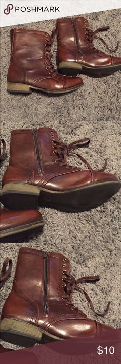 🆕 Soul Shoes Combat Boots Combat Boots from Soul Shoes Brand. Cute and in great condition. Great length if you want a combination of bootie and combat style. Boutique Shoes Combat & Moto Boots