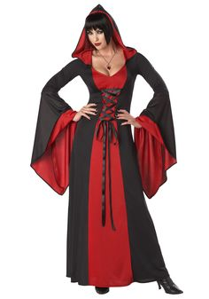 This Plus Size Deluxe Hooded Robe makes a perfect vampire or devil costume, or anything else you can imagine, depending on the accessories you choose!