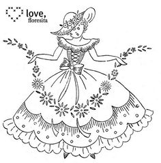 Here's another crinoline lady for you - she's pretty cute, her slightly vacant stare notwithstanding. :) And by the way, if you've been ...