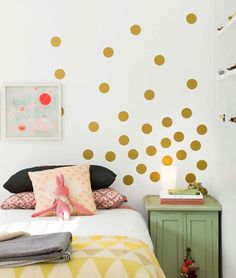 Dots on the wall for the bedroom. For more lifestyle, illustration, beauty and fashion posts check out - natashadearden.com/
