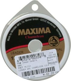 Maxima Fishing Line Leader Wheel, Chameleon, 5-Pound/27-Yard  http://fishingrodsreelsandgear.com/product/maxima-fishing-line-leader-wheel-chameleon-5-pound27-yard/  Strongest line in its class Outstanding abrasion resistance Delivers increased stealth and invisibility