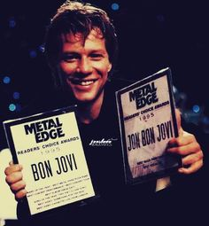 """I don't know if """"Metal Edge"""" magazine is still in circulation, but they always did right by Bon Jovi. Even in the '90s, when a lot of the US decided that Bon Jovi wasn't 'cool'. Now those haters from the '90s are trying to get spots as SUPPORT ACTS on BJ tours!  #AintLifeFunny"""