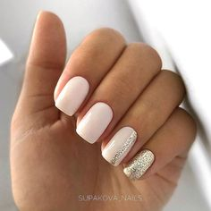 Semi-permanent varnish, false nails, patches: which manicure to choose? - My Nails Square Acrylic Nails, Cute Acrylic Nails, Glitter Nails, Silver Glitter, Glitter Makeup, Acrylic Tips, Acrylic Art, Milky Nails, Casual Nails