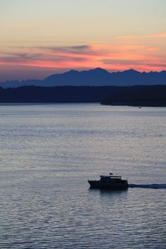 My Girl the Charter Boat on Puget Sound.. Beautiful sunset