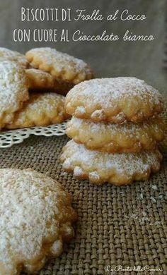 Le Bontà delle Comari: Biscotti di frolla al Cocco con cuore al Cioccolat...