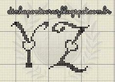 ideas embroidery patterns free letters link for 2019 Cross Stitch Boards, Cross Stitch Letters, Mini Cross Stitch, Beaded Cross Stitch, Blackwork Embroidery, Embroidery Alphabet, Embroidery Patterns Free, Cross Stitch Embroidery, Cross Stitch Alphabet Patterns
