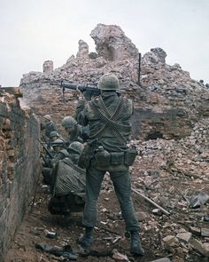 Marines during the Battle of Hue, Tet Offensive, Feb 1968