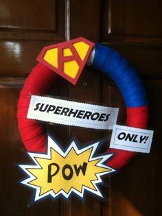 Door decoration, super heroes party.