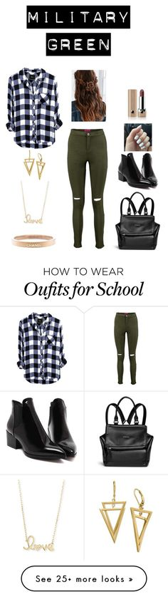 """""""School"""" by annieb0bannie on Polyvore featuring Givenchy, Sydney Evan, Chanel and Marc Jacobs"""