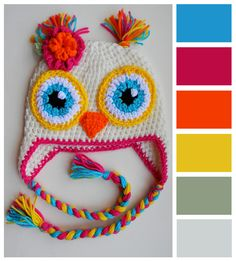 Owl hat. Plus a color bar just because. :)