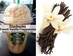 Starbucks Secret Menu: French Vanilla Frappuccino French Vanilla is definitely a coffee favorite of ours and we're told that this recipe is absolutely amazing! Starbucks Secret Menu Drinks, Starbucks Recipes, Starbucks Coffee, Coffee Recipes, Iced Coffee, Coffee Drinks, Vanilla Recipes, Smoothies, Recipes