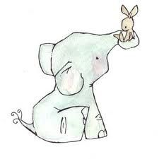 Elephant and Bunny Drawing