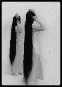 Photography Women--Rapunzel, Rapunzel , let down your hair! Long Black Hair, Very Long Hair, Side Braid Hairstyles, Straight Hairstyles, Hairdos, Rapunzel, Yennefer Of Vengerberg, Long Locks, Beautiful Long Hair
