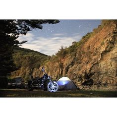 When night turns into day. #harleydavidson #harley #hd #roadtrip #Australia #victoria #greatoceanroad #cumberlandriver #beach #camping #campingtrip #stars #longexposure #night #nightphotography #chopper #softail #custom #lowrider #bikeporn  #rockerc #motorbike #motorcycles #kustomkulture #love #goodtimes #picoftheday #live2ride by agluttonon2wheels