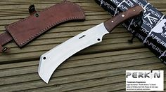 Hunting Knife with Sheath Full Tang - Stainless Carbon Steel - Work of Art by JD Fixed Blade Hunting Knives, Kitchen Knives, Camping Kitchen, Steel, Artwork, Handmade, Link, Shop, Image